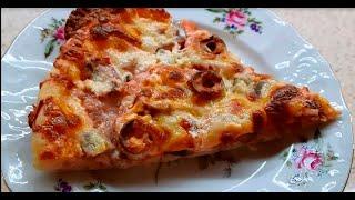 Готовим пиццу дома в духовке Быстро и вкусно Простой рецепт