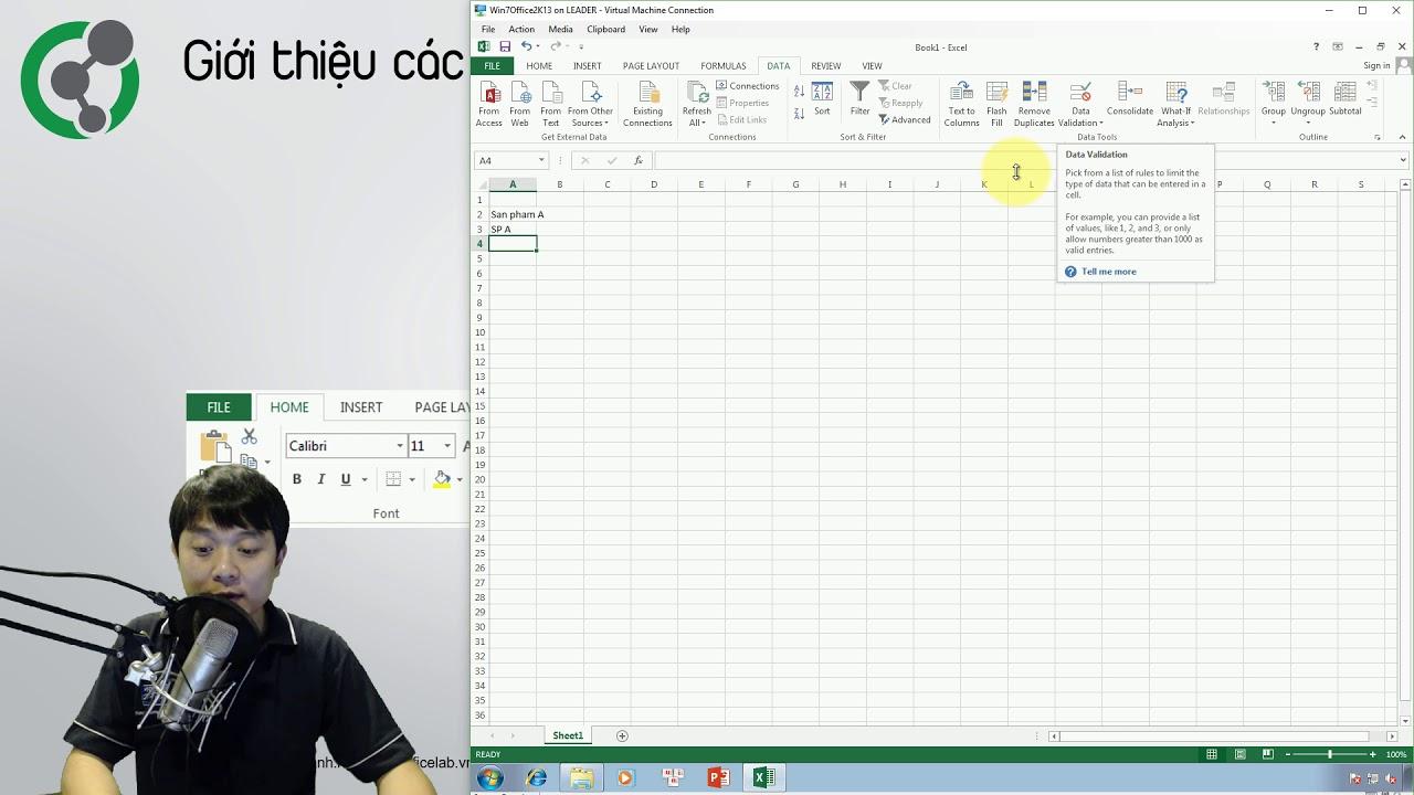 Học Excel: 1.1. Giới thiệu giao diện phần mềm Excel 2013