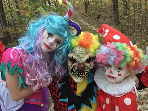 Thumbnail: Princess Ella goes to find the creepy killer clown in the woods and gets kidnapped.scary skit part 1