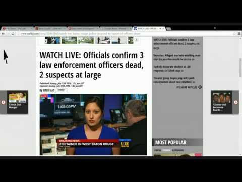 *****LIVE*****BREAKING NEWS***BATON ROUGE SHOOTING