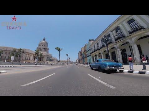 A ride on Prado, passing El Capitolio in Havana, Cuba