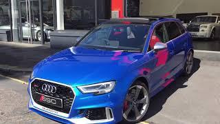2017 Audi RS3 2.5 TFSI Sportback S Tronic quattro 5dr In Ara Blue Crystal Effect