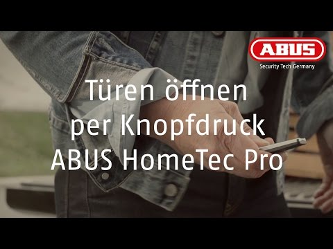 abus hometec pro t r ffnen per knopfdruck youtube. Black Bedroom Furniture Sets. Home Design Ideas