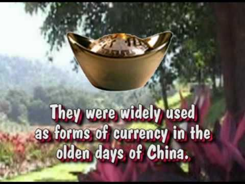 Chinese Gold Ingots or Sycee - Symbol of Wealth