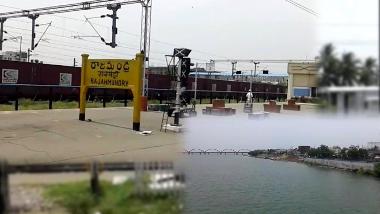 train passing rajahmundry railway station and godavari