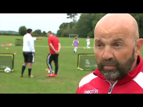 BBC Points West - Real Madrid Clinic UK - Corsham 28-08-18