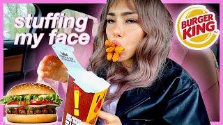 EATING LIKE NIKOCADO AVOCADO 먹방 MUKBANG 버거킹 와퍼 BURGER KING, WHOPPER, ONION RINGS, CHICKEN FRIES