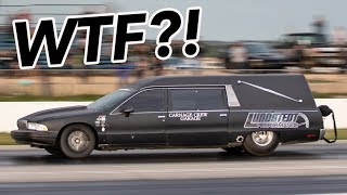 We found a HEARSE at the drag strip..and ITS FAST!