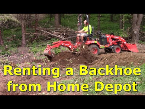 Renting A Backhoe To Clear Land For A Cabin By @GettinJunkDone
