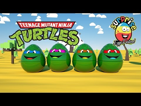 Learn Colors with 3D Teenage Mutant Ninja Turtles (TMNT) Sur