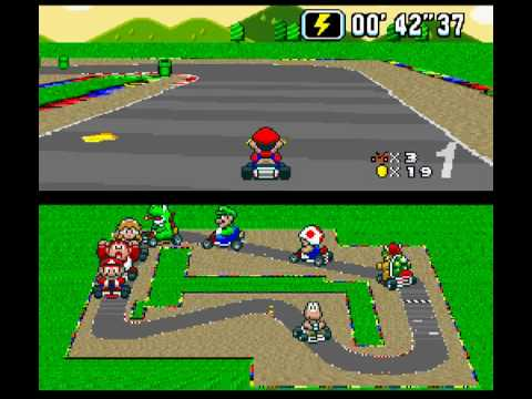 super mario kart mario circuit 1 youtube. Black Bedroom Furniture Sets. Home Design Ideas