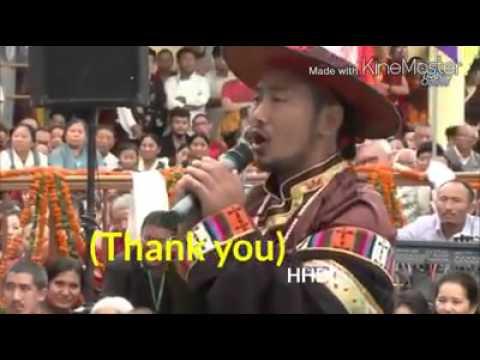 Tibetan sg 2025  Jamyang Tashi thank you for your  Holiness HH DL