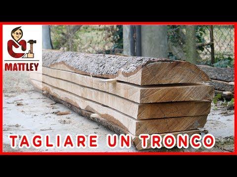 FAI DA TE - Come tagliare un tronco in tavole