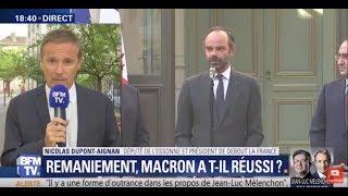 Remaniement : réaction de Nicolas Dupont-Aignan sur BFMTV