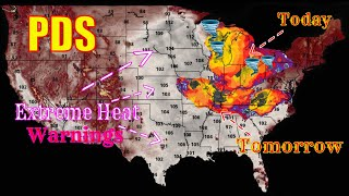 Huge Threat Today! Extreme Heat, Tornadoes, Large Hail & Damaging Winds! - The WeatherMan Plus