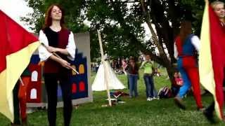 Medieval Theatre in Moscow Jesters stilts, jugglers, minstrels, dances, acting, jugglers, acrobats