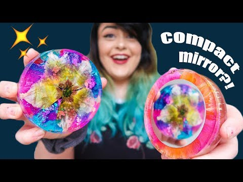 CREATING YOUR SUGGESTIONS! | Floral Resin Compact Mirror