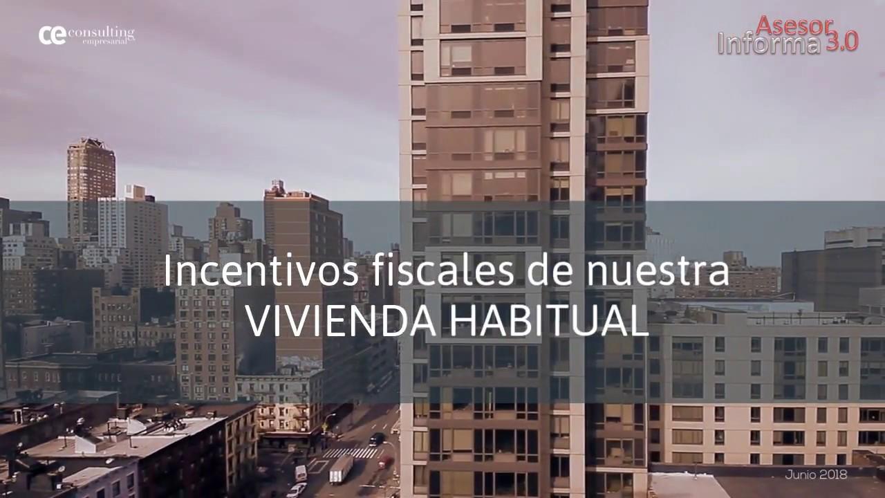 Incentivos fiscales de la vivienda habitual | Asesor Informa 3.0