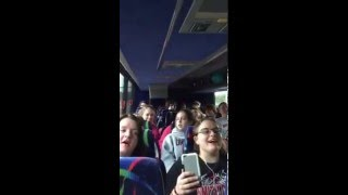 Hot Dog song Orrville High School 2016 Disney Trip-Jacksonville Florida-almost there!