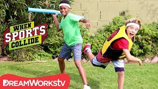 WHEN SPORTS COLLIDE | Human Dart Board (Darts + Javelins)