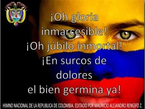 HIMNO NACIONAL DE COLOMBIA (letra y Música)