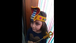 DIY | Craft | How to make | beautiful | َQueen | Pharaoh's | Crown | out of | Foam | Glitter