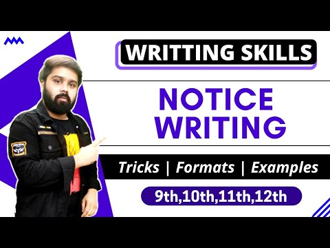 Notice Writing In Hindi And English - Youtube