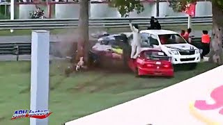 Racing Accident Splies Car in Half  [Edit version]