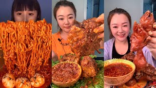 CHINESE FAST EATING CHALLENGE 🤗💗 FAST EATING MUKBANG TIKTOK 🔥 ASMR EATING SHOW🍖