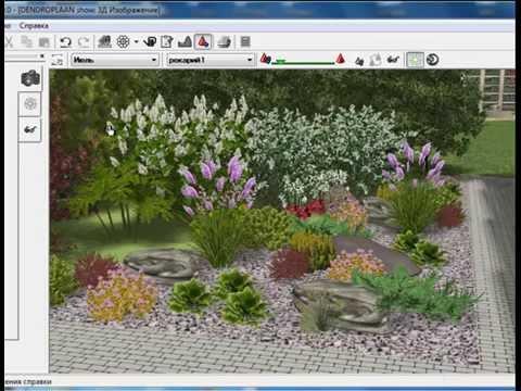 Варианты красивых цветников: миксбордер, клумба и рокарий в  программе Наш сад