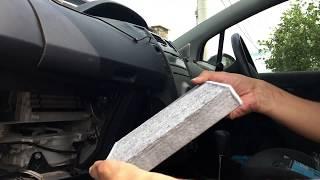 Cabin air filter installation Toyota Yaris. Замена салонного фильтра на Toyota Vitz за 2 минуты