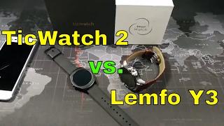 TicWatch 2 vs. the Y3 from Lemfo - A Smartwatch Battle
