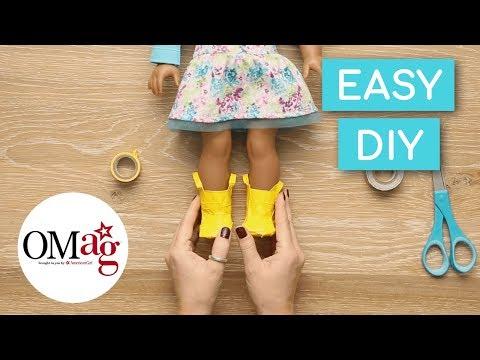 DIY Rain Boots For Your Doll | Doll DIY | American Girl