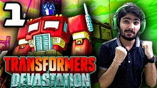 Optimus Prime - Transformer Devastation Gameplay - HINDI(Part-1)