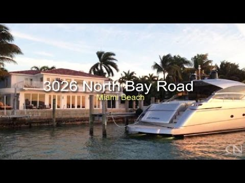 3026 North Bay Road Miami Beach Mansion   Waterfront House For Sale