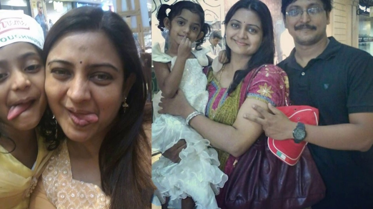 """Actress Indraja"""" Family Photos with Husband Mohamed Absar and Daughter  Images - YouTube"""