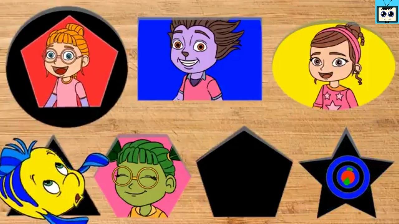 головоломка Неправильные блоки Замороженная Эльза, Анна, Вампирина - Развивающие Мультики
