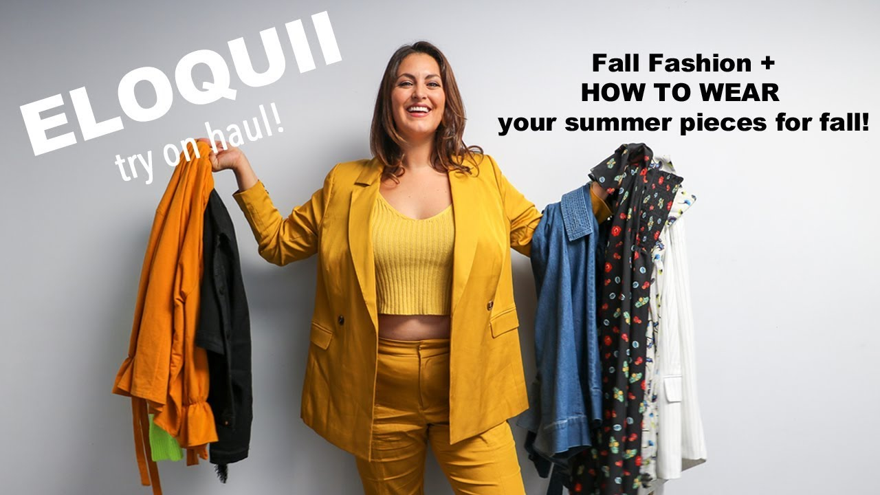 8981ebe5c0e9 Fall-Fashion Eloquii Plus Size Haul 2018 - 9 LOOKS! - YouTube
