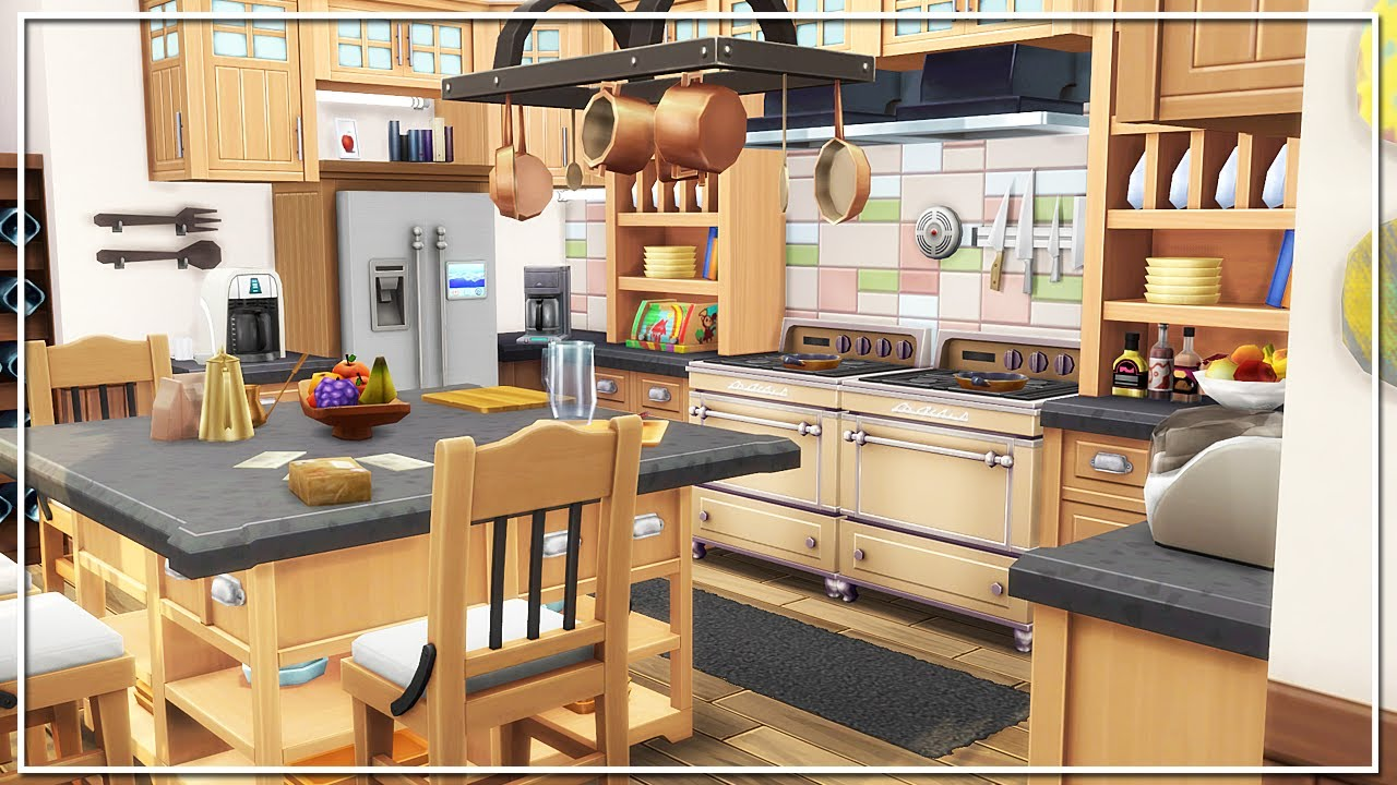 family kitchen design the sims 4 build family kitchen 3664