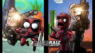 Drawing DEADPOOL & CABLE as 8 FAMOUS DUOS! - in FULL COLOR!