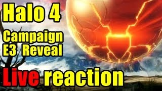 E3 Halo 4 campaign reveal - LIVE reaction! + British guy freakout!