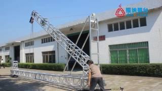 Stage truss column semi - automatic lifting system starting column truss