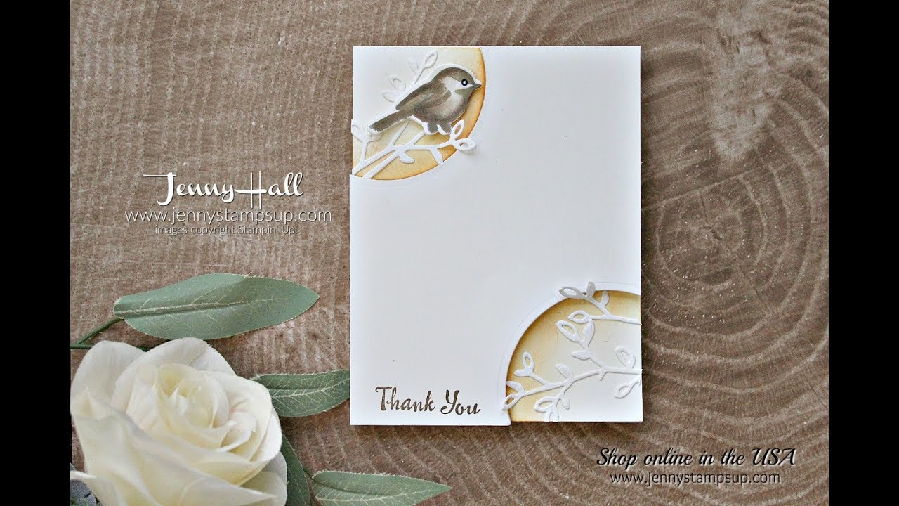 Petal Palette clean and simple card using Stampin Up products with ...