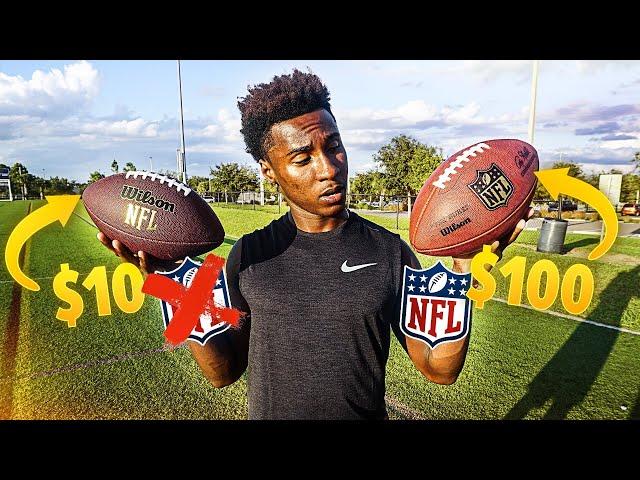 $100 Official NFL Football vs. $10 Walmart Knockoff (INSANE Experiment)