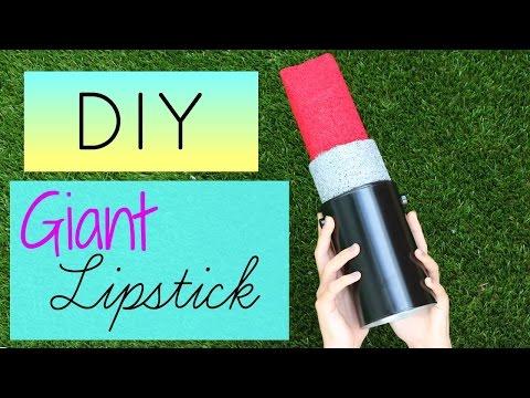DIY Crafts: How To Make A Giant Lipstick - DIYs Storage Idea or Gift Box