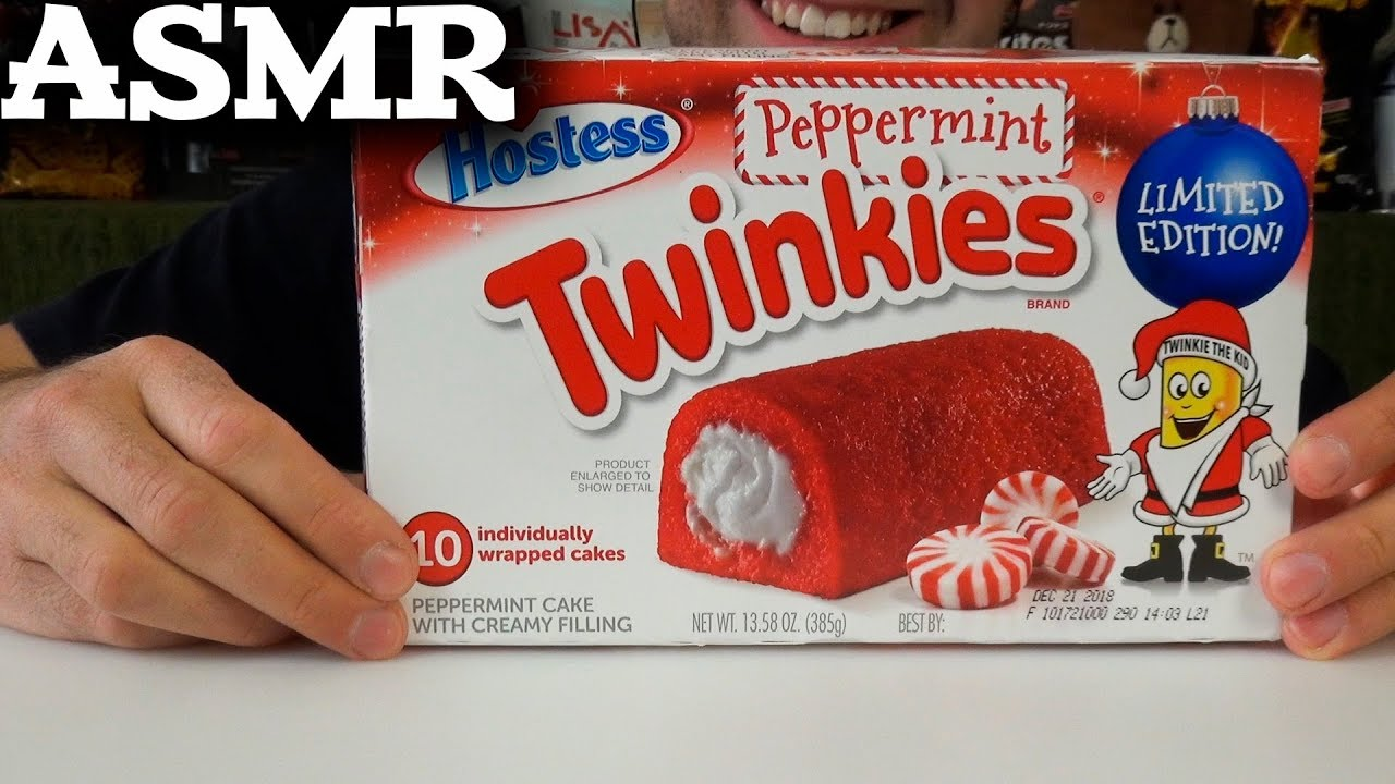 Eating Twinkies Peppermint Hostess Eating Sounds Asmr Eating Show