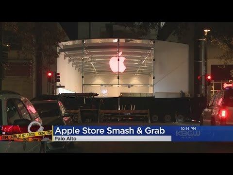 Palo Alto Apple Store Smashed In Robbery