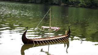 viking long boat model