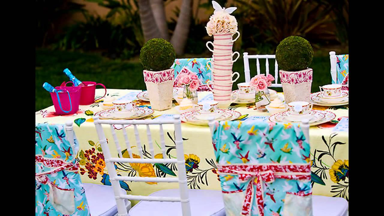 Garden tea party decorations at home ideas youtube for Funky garden accessories