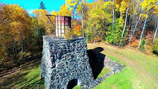 Katahdin Iron Works drone video Silver Lake, Maine 10-21-17